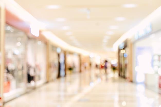 Luxus-kaufhaus-einkaufszentrum, abstrakte, defokussierte unschärfe mit bokeh-hintergrund, konzept des designs der einkaufssaison