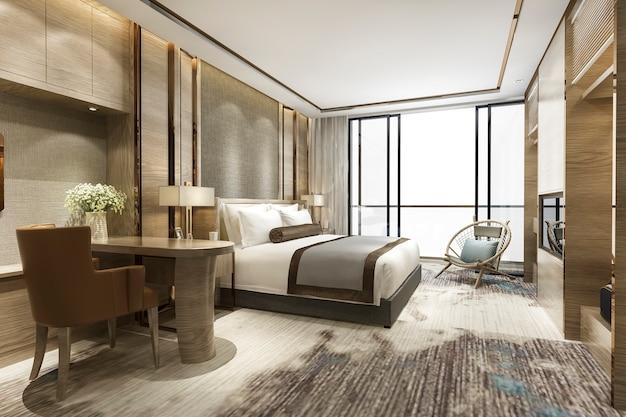 Luxus klassische moderne schlafzimmer suite im hotel