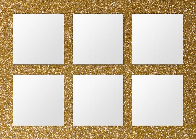 Luxus-oberfläche mit sechs papiernoten