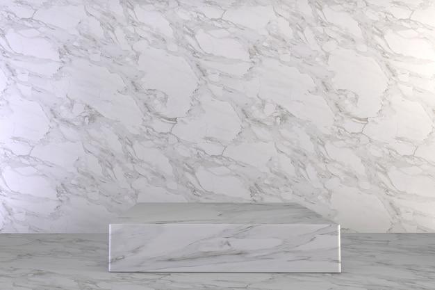 Luxus podium römischen stil auf weiß für show-produkt.
