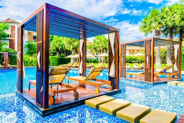 Luxus regenschirm schöne tropische natur