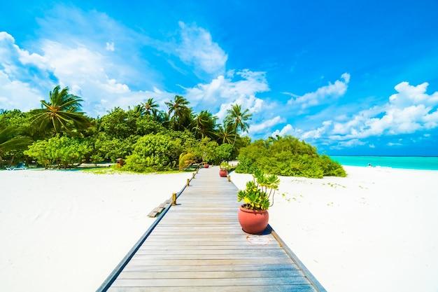 Luxus-reisen maldives exotische blau