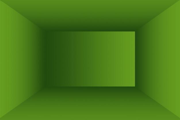 Luxus schlicht grüner abstrakter studiohintergrund leerer raum mit platz für ihren text und ihr bild.