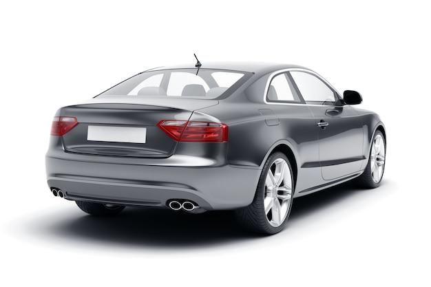 Luxus-sportwagen in der hinteren hälfte seitenansicht
