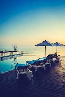 Luxus-swimming-silhouette, natur, landschaft