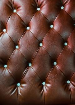 Luxus Textur von Ledermöbeln mit Kristall verziert