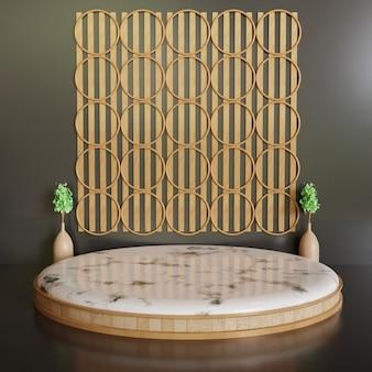 Luxus- und minimalistische podestbühne, einzelner weißer minimalistischer keramikmarmorständer für produktpräsentation