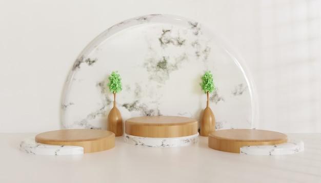 Luxus- und minimalistische podestbühne, weißer minimalistischer keramikmarmorständer für produktpräsentation