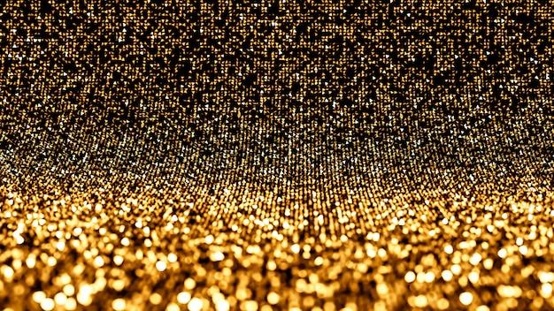 Luxus urlaub glitter hintergrund. 3d-illustration, 3d-rendering.