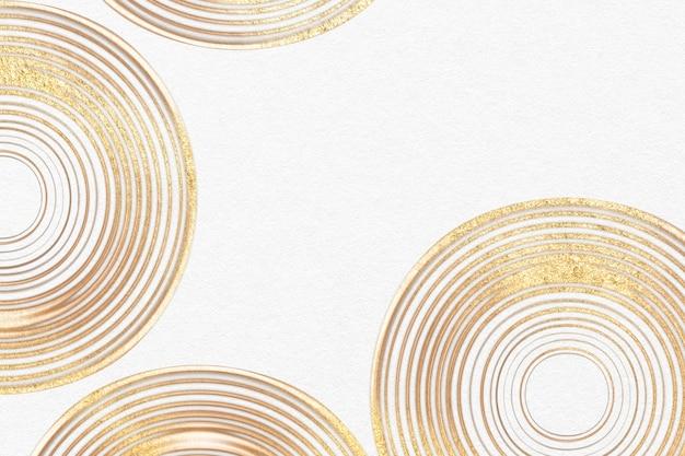 Luxusgold strukturierter hintergrund in der abstrakten kunst des weißen kreismusters