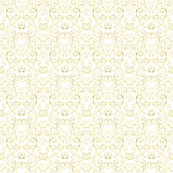 Luxusgoldkönigliches nahtloses muster auf weißem hintergrund.