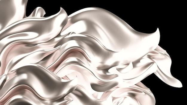 Luxushintergrund mit goldvorhangstoff. 3d-illustration, 3d-rendering.