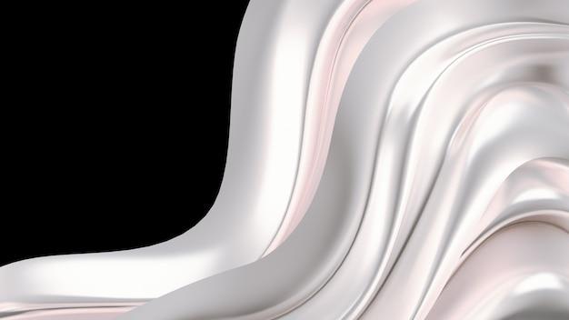 Luxushintergrund mit goldvorhangstoff. 3d-illustration