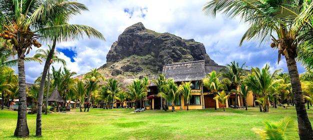 Luxusurlaub im tropischen paradies, insel mauritius, le morne