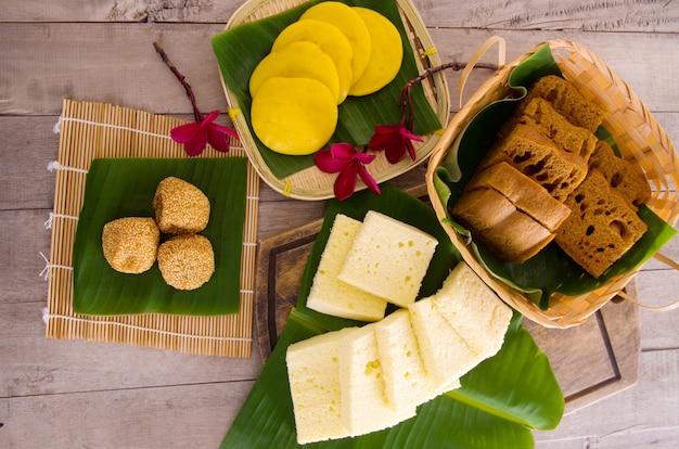 Ma lai gou-traditioneller malaysischer gedämpfter kuchen.