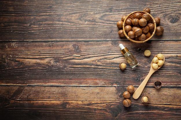 Macadamiaöl zur entspannenden behandlung