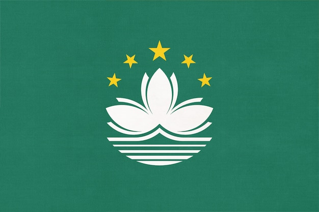 Macao national stoff flagge