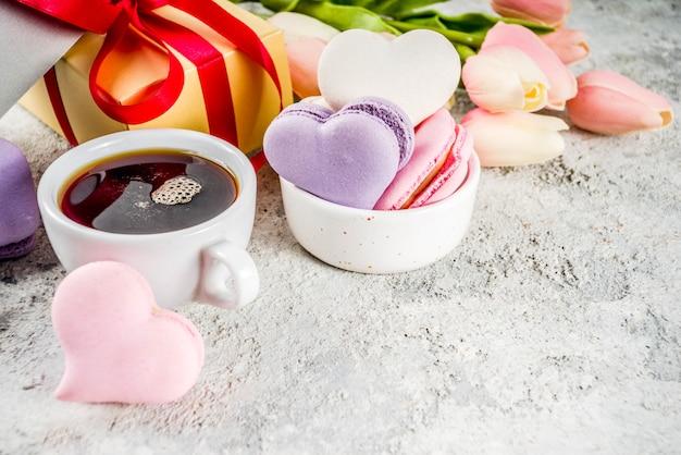 Macaron-plätzchen des valentinstags
