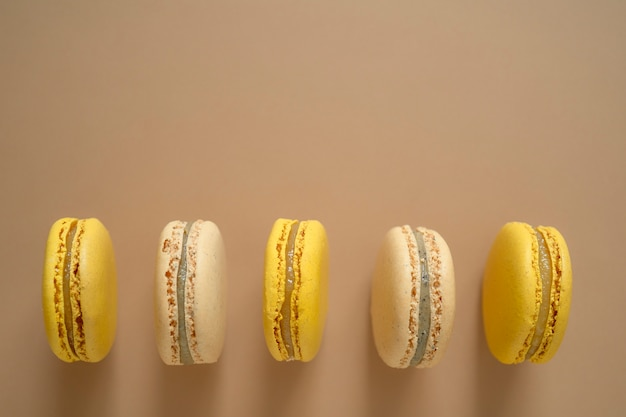 Macarons französischer nachtischkuchen oder makronenmandelgebäck.