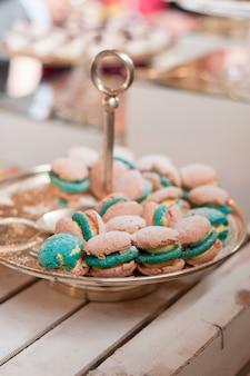 Macarons metalltablett