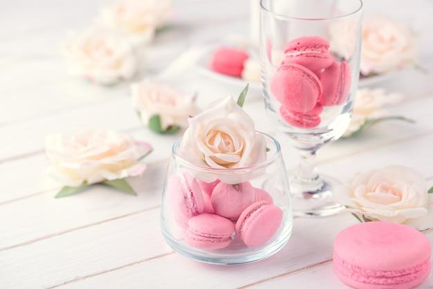 Macarons oder makronen nachtisch süß schön zu essen