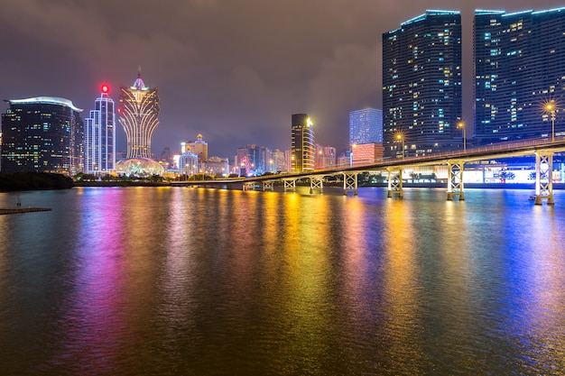 Macau stadtbild nacht