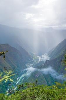 Machu picchu schöne landschaft