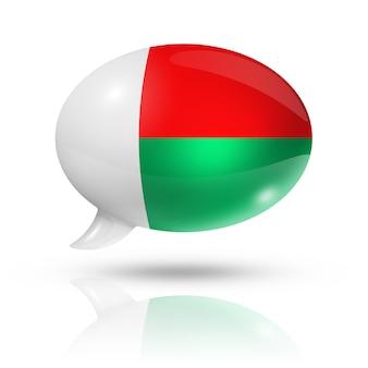 Madagaskar flagge sprechblase