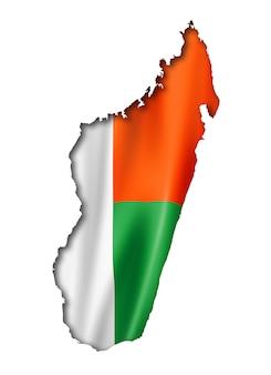 Madagaskar-flaggenkarte