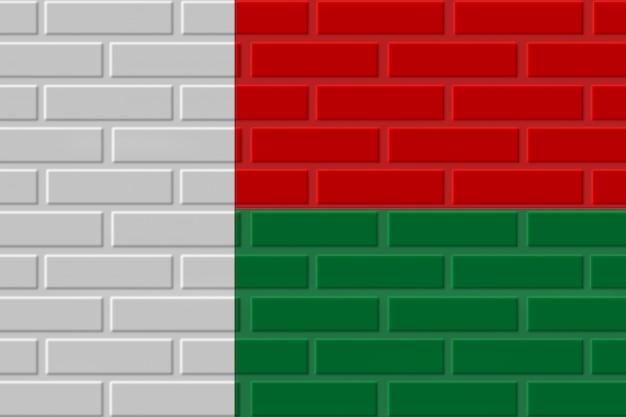 Madagaskar ziegelflaggenillustration
