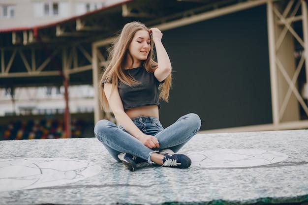 Mädchen im park