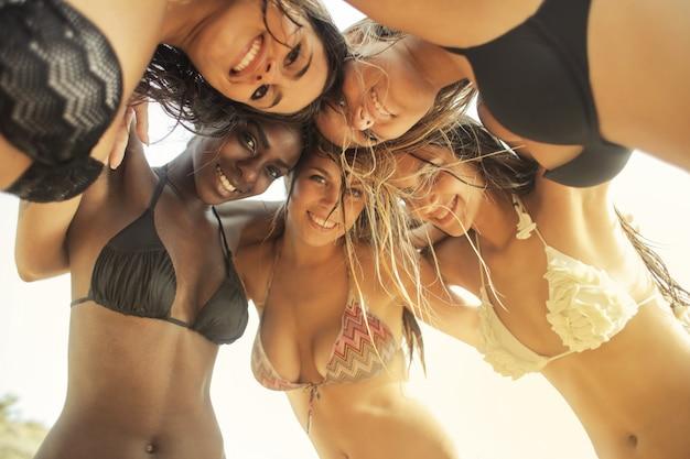 Mädchen in den sommerferien