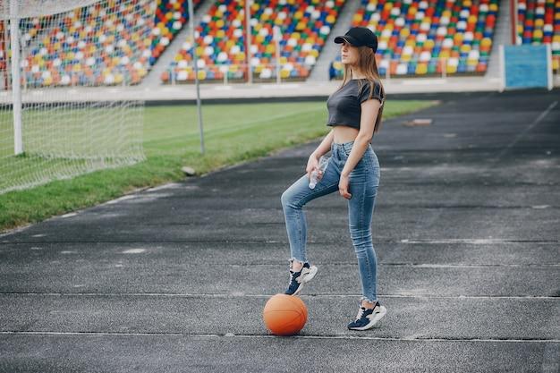 Mädchen mit einem ball