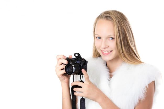 Mädchen mit einer kamera