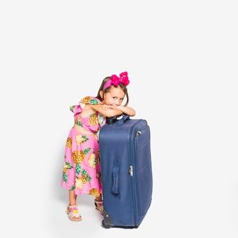 Mädchen mit koffer