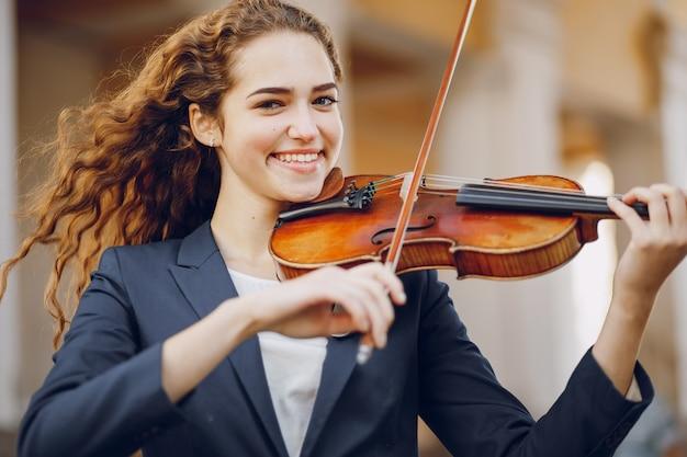 Mädchen mit violon