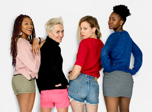 Mädchen-mode-zufälliges art-konzept