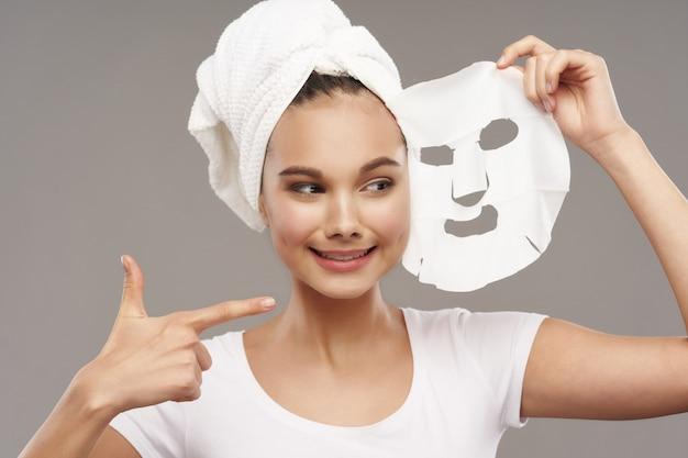 Mädchen porträt studio hautpflege