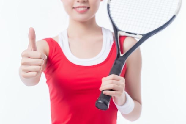 Mädchen spielen tennis