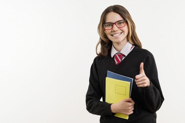 Mädchen teenager, gymnasiast