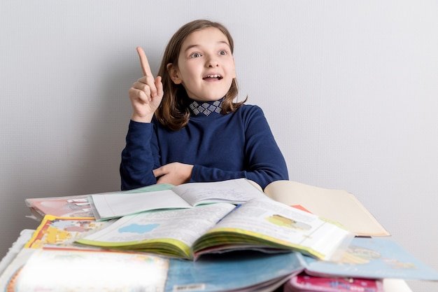 Mädchen unterrichtet unterricht.