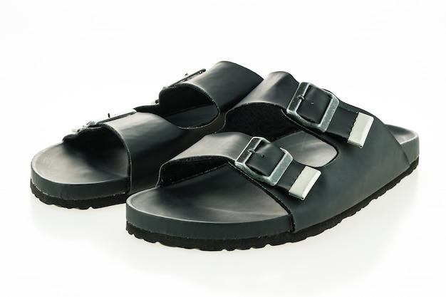 Männer leder sandale und flip flop schuhe
