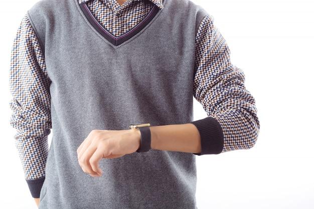 Männlich licht tages mann smartwatch