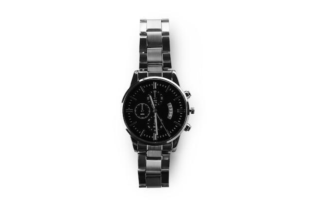 Männliche armbanduhr lokalisiert auf weiß