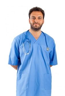 Männliches krankenschwesterportrait