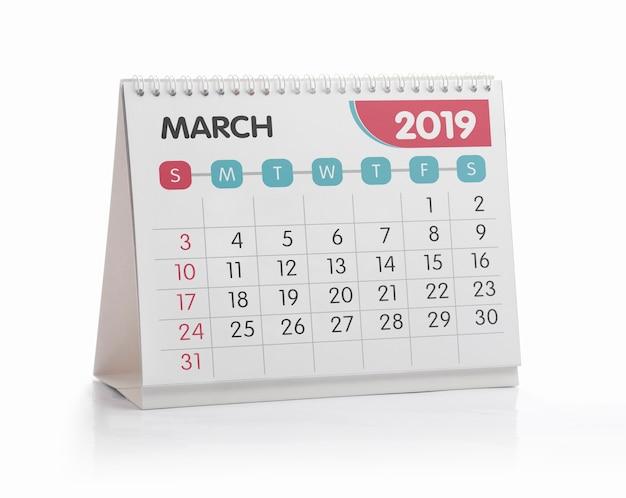 März white office kalender 2019, isoliert auf weiss