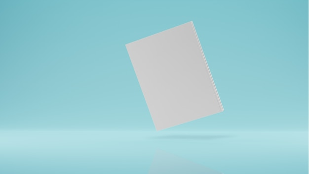 Magazin-cover-buch mit sattelmodell, das auf weißem hintergrund schwimmt