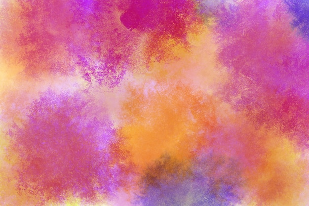 Magenta-cyanrosa-orange-gelbblau der regenbogenaquarellhintergrundtapeten-wolke