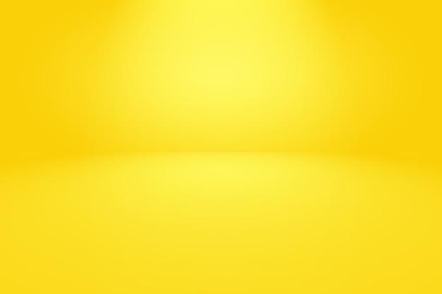 Magische abstrakte weiche farben des leuchtenden gelben farbverlaufshintergrunds.