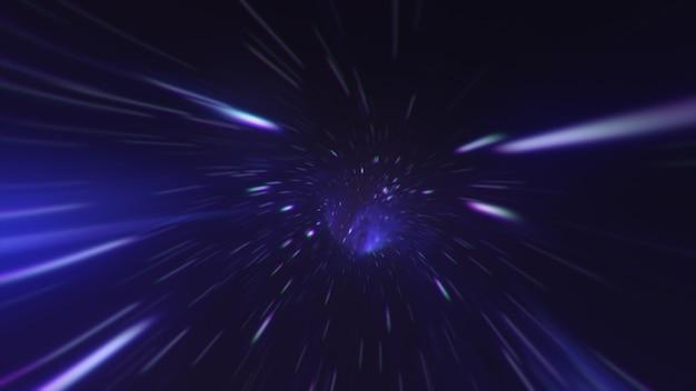 Magisches wurmloch - eine wendung im weltraumflug in ein schwarzes loch
